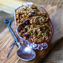 Power Cranberries Pecans Granola Recipe