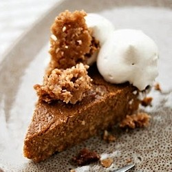 Pumpkin Pie with Cinnamon Crunch and Bourbon Maple Whipped Cream