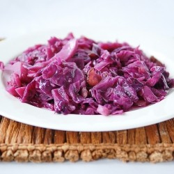 Red Cabbage Salad with Apples and Bacon