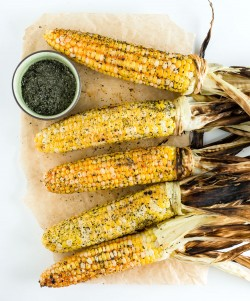 Roasted Garlic Miso Butter Corn Recipe
