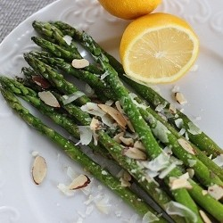 Sauteed Asparagus with Garlic Parmesan and Almonds Recipe