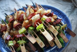 Scallop Chorizo Skewers Recipe