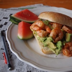 Shrimp and Avocado Sandwiches Recipe