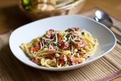 Smoked Salmon Sun Dried Tomato Pasta