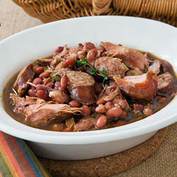 Smoked Turkey Red Beans Spicy Sausage