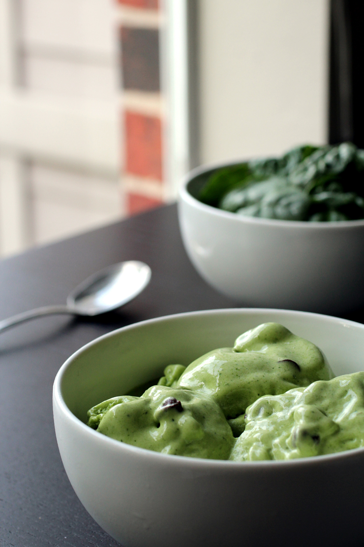 Spinach Frozen Yogurt