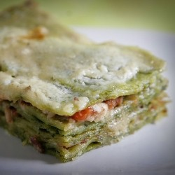 Spinach Pasta and Bechamel Lasagne