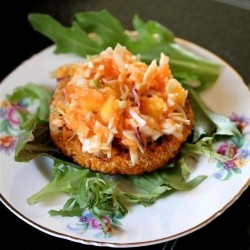 Sweet Potato Burgers with Carrot Slaw Recipe