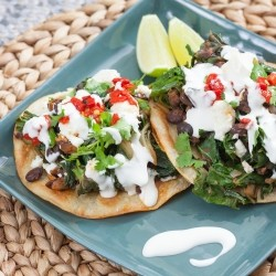 Swiss Chard Black Bean Tostadas Recipe