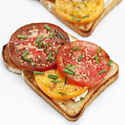 Tomato Tartines with Feta Recipe