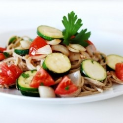 Zucchini Tomato Parsley Pasta