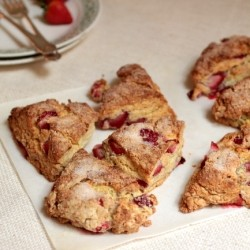Buttermilk Scones with Fresh Strawberries Recipe