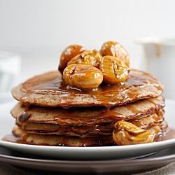 Chestnut Flour Apple Pancakes Recipe