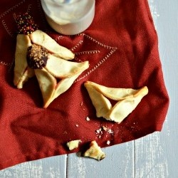 Chocolate Dipped Cream Cheese Hamantashen Recipe