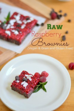 Fudge Raspberry Chia Brownies Raw Recipe