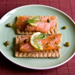 Gravlax on Swedish Crispbread Recipe