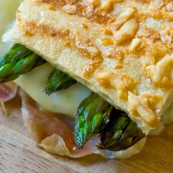 Grilled Asparagus Prosciutto Panini