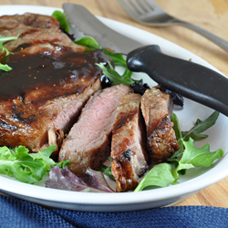 Grilled Beef with Fig Balsamic Glaze Recipe