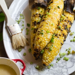 Grilled Corn on the Cob with Miso Butter