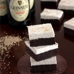 Guinness and Whiskey Brownies for St Patricks Day