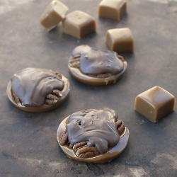 Homemade Tortoises with Caramel Pecans and Chocolate