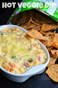 Hot Vegetable Cream and Swiss Cheese Dip Recipe
