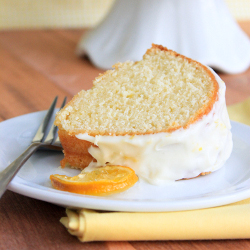 Lemon Pound Cake with Cream Cheese Icing