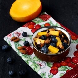 Mango Blueberry Date Almond Oatmeal