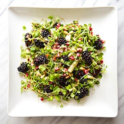 Microgreens Blackberries Corn Asparagus Salad Recipe