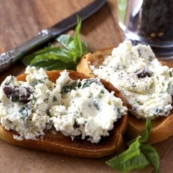 Olive Basil Cheese Spread