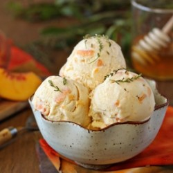 Peach Honey Ice Cream Recipe