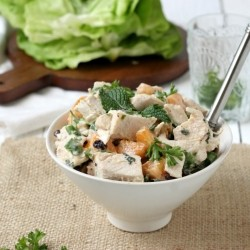 Peaches Cream Chicken Salad