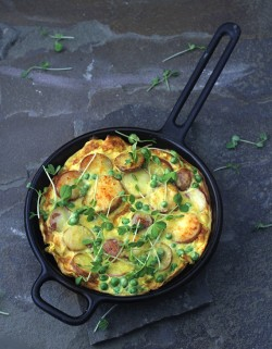 Potato Peas Frittata Recipe