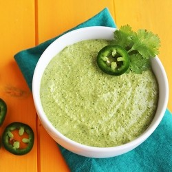Roasted Jalapeno Cilantro Manchego Pesto Recipe
