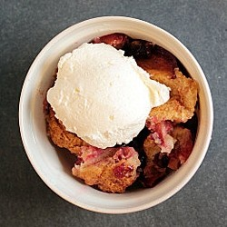 Rustic Plum and Blackberry Cobbler Recipe