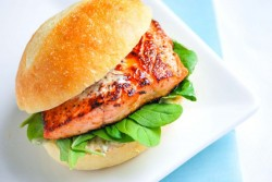 Salmon Burgers with Chipotle Mayo