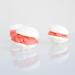 Strawberry Sorbet Meringue Sandwiches