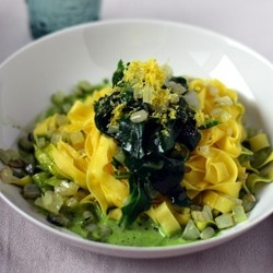 Tagliatelle with Chard and Lemon