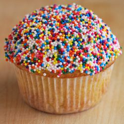 Vanilla Bean Cupcakes with Sprinkles