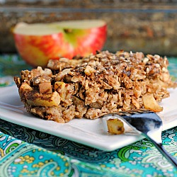 Vegan Apple Cinnamon Baked Oatmeal Recipe