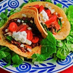 Vegan Black Bean Tacos on Gluten Free Chickpea Flatbread Tortillas