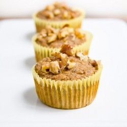 Yellow Zucchini Banana Nut Muffins