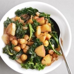 Apple Chickpea Hash with Wilted Kale