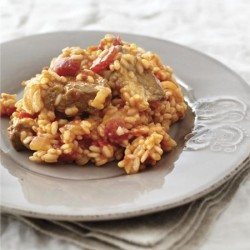 Atzem Rice Pilaf with Lamb Recipe