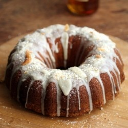 Caramelized Mango Coconut Golden Rum Bundt Cake