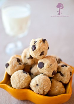 Chocolate Chip Peanut Butter Coconut Cookie Dough Balls