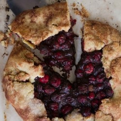 Chocolate Cranberry Galette Recipe