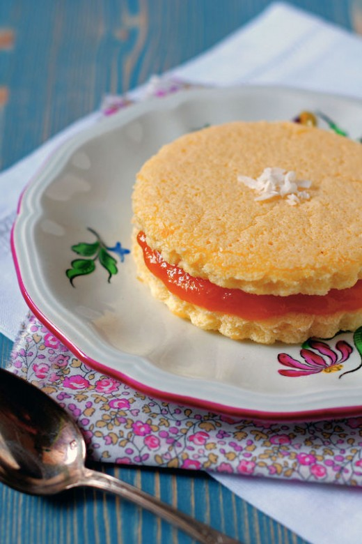 Coconut Sponge Cake with Mango Passion Fruit Jam Recipe