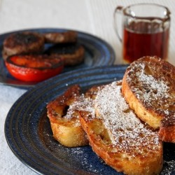 Crispy Cardamom Orange French Toast with Buttery Maple Syrup