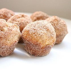 Donut Muffins with Butter and Cinnamon